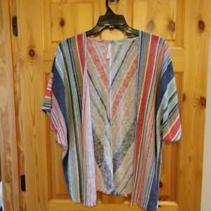 Boutique Short Sleeve Cardi Cover Up